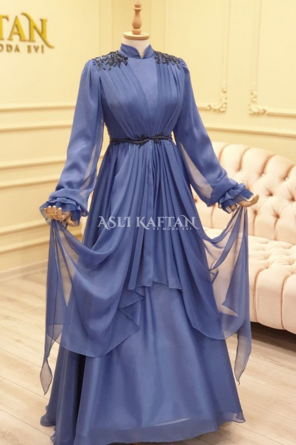 Masumiyet Mavi Abiye Modeli
