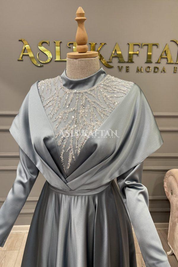 Alina İndigo Abiye Modeli,